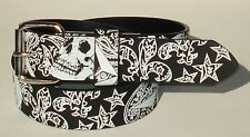 MEN WOMAN PRINTED SNAP ON BELT WITH JEAN BUCKLE M 34