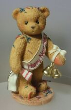 "CHERISHED TEDDIE ""NEWTON HAPPY NEW YEAR FIGURINE"" 272361  MINT IN BOX"