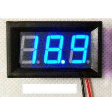 """0.56"""" 3.2-30V DC Digital Motorcycle Voltmeter Car Battery Tester 12V/24V LED blu"""