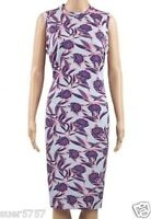 NEW Ex M&S Blue Multicolour Floral  Sleeveless Summer Shift Dress Size 8 -18