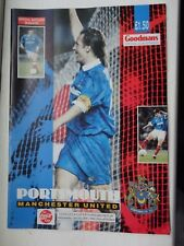 PORTSMOUTH Pompey vs MAN utd MANCHESTER LEAGUE CUP 26.01.1994 football programme