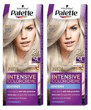 2x Schwarzkopf Palette Intensive Color Creme 10-1 (C10) Frosty Silver Blonde