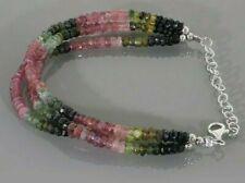 Natural Gemstone Multi Shade Fine Tourmaline Faceted Beaded Designer Bracelet.