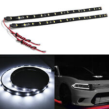 "2pcs 30-SMD Super White LED 24"" Strip Door Headlights Audi DRL Style Light"