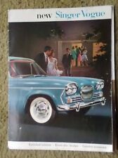 old Advertising catalog Singer Vogue Motor Car.  Lovely images  #047