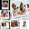 18/30/40/50/60th Happy Birthday Party Paper Frame Anniversary Photo Booth Props