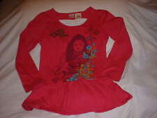 DISNEY WIZARDS OF WAVERLY PLACE Girls Shirt Size Large 10/ 12 Hot Pink Glitter