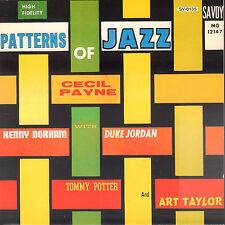 CECIL PAYNE - PATTERNS OF JAZZ (1991 SAVOY JAZZ CD REISSUE JAPAN)