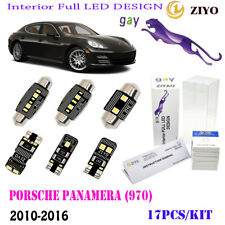 17Pcs LED Interior Light Kit Xenon White 6K For 2010-2016 Porsche Panamera(970)