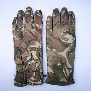 Genuine British Army MTP Camouflage Leather Mkll Cold weather Gloves
