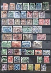 USA ab 1875. Gestempelt. Klassik Sammlung. Unterschiedliche Qualität