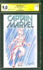 Captain Marvel 1 CGC SS 9.0 Original art sketch Bree Larsen 2019 Avengers Movie