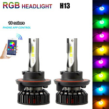 2pcs 9008 H13 LED Kit 72W LED Headlamp High/Low Double Beam Color-Changing Bulb