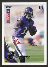 2012 TOPPS KICKOFF BERNARD PIERCE RC ROOKIE RARE RED INK AUTO