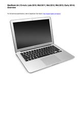 Apple MacBook Air Early 2008 Technician Guide Service Manual