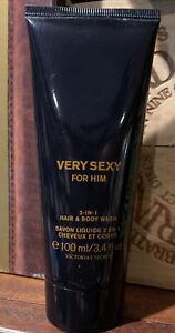 Very Sexy For Him 3.4oz/100ml Victoria's Secret 2 N 1 HAIR & BODY WASH