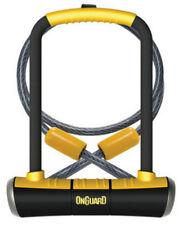Onguard Fahrrad Bügelschloss mit Seil und Halter Pitbull DT 8005