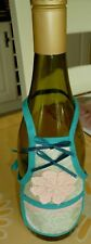 New Novelty Beige with Green Piping Bottle Bib for wine/spirit bottles