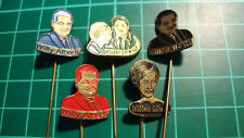 Willy en Willeke Alberti stick pin badge 60's lapel Dutch speldje 5pcs