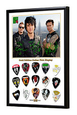 Green Day Framed Gold Edition Guitar Pick Display Médiators (code S)