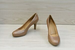 Naturalizer Michelle Leather Pumps, Women's Size 10 N, Chai NEW