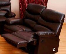 Divano 2 posti recliner reclinabile mod.relax Diany  di colore marrone arredo