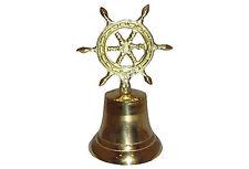 Nautical Ship's Wheel Brass Bell