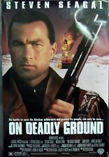 On Deadly Ground Original Double Sided Movie Poster Steven Seagal Joan Chen