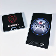 Loot Crate Exclusive Hydra Pin & Agents of SHIELD Replica Badge * Marvel Comics