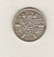1936 GEORGE V 50% SILVER SIXPENCE IN MINT CONDITION.
