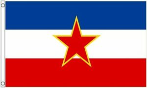 5' x 3' Yugoslavia Flag Old Yugoslavian Star Flag 1946 to 1992