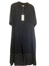 Camisa señoras tostadas punto de impresión Vestido Nuevo Talla 16