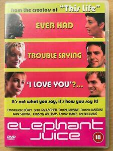 Éléphant Jus DVD 1999 Britannique Romcom Largeur / Emmanuelle Beart Et Mark Fort