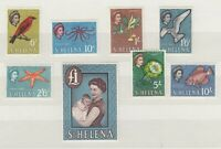 St Helena QEII 1961 High Value Set To £1 MH JK234