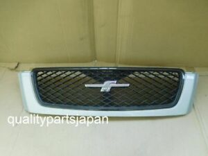 Subaru Forester SF5 Kouki Front Grill Grille PINK EMBLEM Silver SF9 2000-2002
