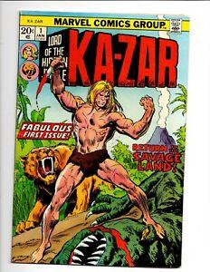 KA - ZAR # 1 MARVEL COMICS January 1974 SHANNA the SHE DEVIL CAMEO KEY 1st ISSUE