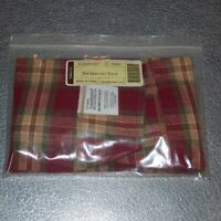 Longaberger Orchard Park Plaid SMALL SERVING TRAY Basket Liner ~ New in Bag!