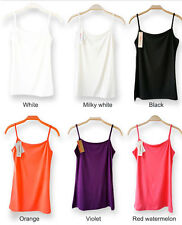 7 Color Women Modal Stretch Spaghetti Strap Vest Vests Casual Ladies Undershirt