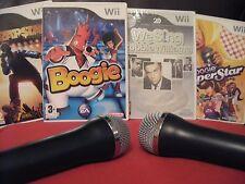 WE Sing MEGA BOOGIE 140+ song Karaoke Wii BUNDLE - 2x MICROPHONES Mics NINTENDO
