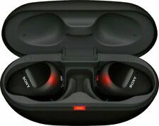 Sony WF-SP800N Truly Wireless Sports In-Ear Noise Canceling Headphones - Black
