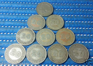 1927 Straits Settlements 20 Cents Silver Coin (Price Per Piece)