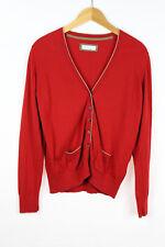 BRAX Damen Strickjacke Größe 40 Kaschmir Baumwolle Rot