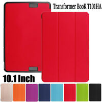 "Flip Leather Case Stand Cover Skin For Asus Transformer BooK T101HA 10.1"" Inch"