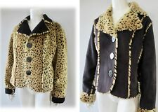 Outerwear by Lisa Reversible Ultra Soft Faux Suede And Big Cat Faux Fur Jacket M