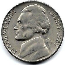 1949 S Jefferson Nickel, Circulated, Finish Your Nickel Book #3023