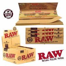 2 Boxen 100x RAW King Size slim ORGANIC aus Bio Hanf Öko Papers Blättchen NEU!