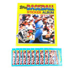 1981 Topps Baseball Autocollant Album+ 10 Autocollant Packs