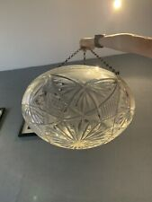 Antique Victorian Decorative Heavy Crystal Glass Ceiling Light Shade On Chains