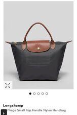LongChamp Le Pliage Top Handle Small Women's Bag Handbag Tote Gunmetal