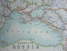 1910 MAP ~ Russia Europea Finlandia Polonia Crimea Caucasia